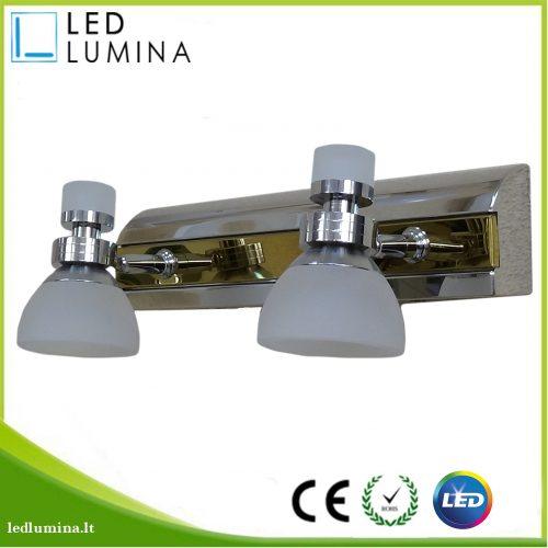 LED sieninis šviestuvas 8w dvijų lempučiu 1