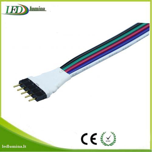 Jungtis RGBW LED juostai 5 pinu male 1