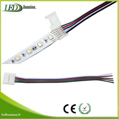 Jungtis RGBW LED juostai 5 kontaktų užspaudžiama 10mm 1