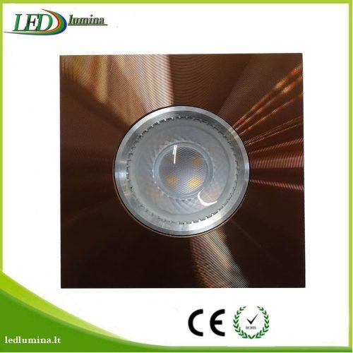 Akcentinis LED šviestuvas juodas rudas 1