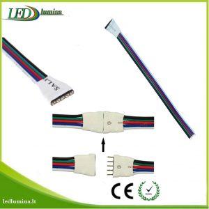 Jungtis RGBW LED juostai 5 pinu female