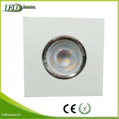 Akcentinis LED šviestuvas juodas baltas 1