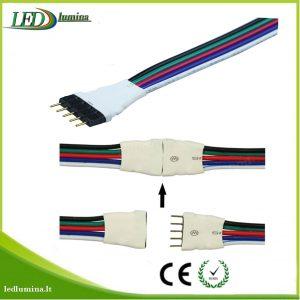 Jungtis RGBW LED juostai 5 pinu male
