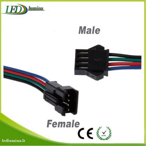 Jungtis RGBW LED juostai 5 kontaktu female 1