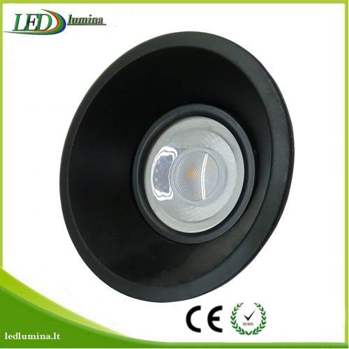 Akcentinis LED šviestuvas juodas reguliuojama šviesos kriptis 1