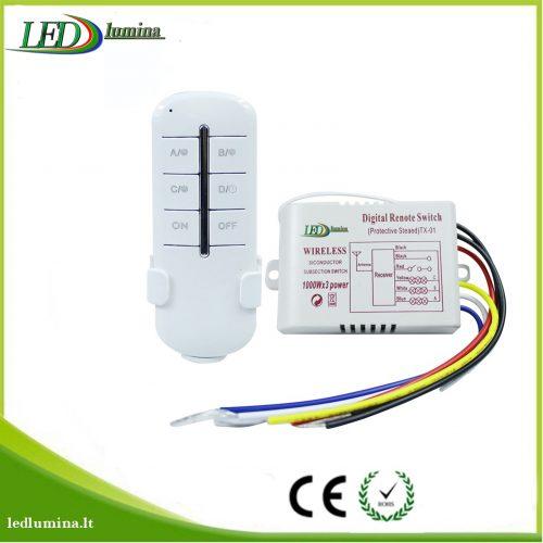 Nuotolinis valdiklis su pulteliu šviestuvams trijų zonoų 3x1000W 1