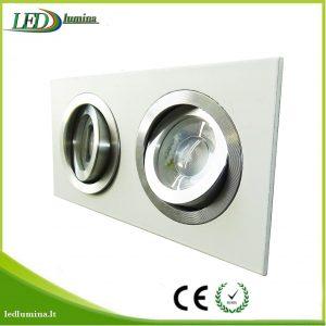 Akcentinis LED šviestuvas kryptinis dvigubas baltas