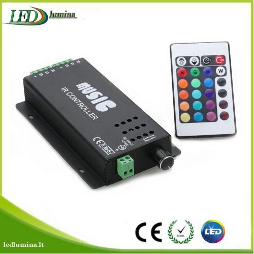Muzikinis valdiklis RGB LED juostai su pulteliu 1