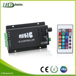 Muzikinis valdiklis RGB LED juostai su pulteliu