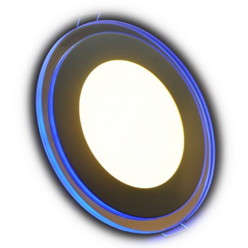 7W LED panelė su stkliniu mėlynu apvadu naturali balta šviesa 1