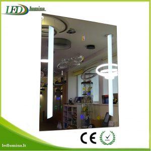 Veidrodis su LED apšvietimu 60x80